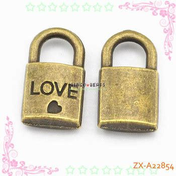 Padlock Charms Zinc Alloy Antique Bronze 12 x 25 mm antique bronze padlock charm buy