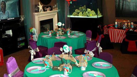 mermaid ariel princess theme birthday table