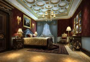 Luxury Bedroom Interior Design Luxury Hotel Bedroom Chandeliers And Wall Design Rendering 3d House Free 3d House Pictures