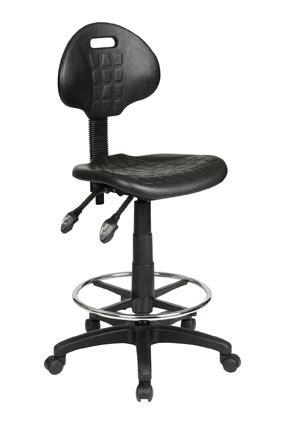 Drafting Stool Black by Industrial Ergonomic Black Drafting Stool I Office