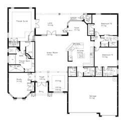 Single Story Open Floor Plans 1000 Ideas About Open Floor Plans On 3 Bedroom House Floor Plans And Open Floor
