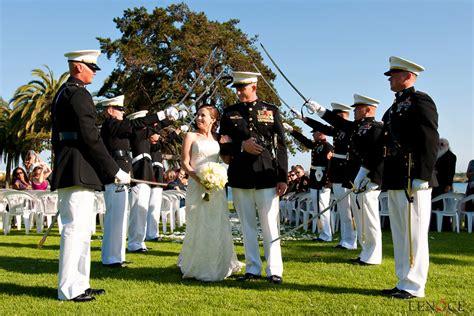 wedding arch of swords mcrd bayview restaurant wedding july 9
