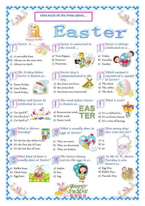 easter facts trivia easter quiz worksheet free esl printable worksheets made