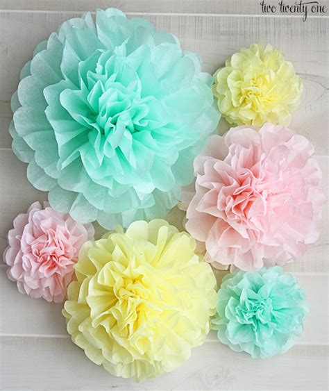Make Tissue Paper Pom Poms - how to make tissue paper pom poms