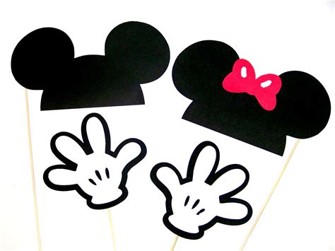 free printable disney photo booth props template mickey minnie mouse photo booth props disney party ears