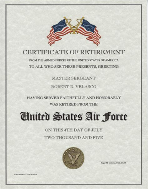navy retirement certificate template pin retirement certificate template on