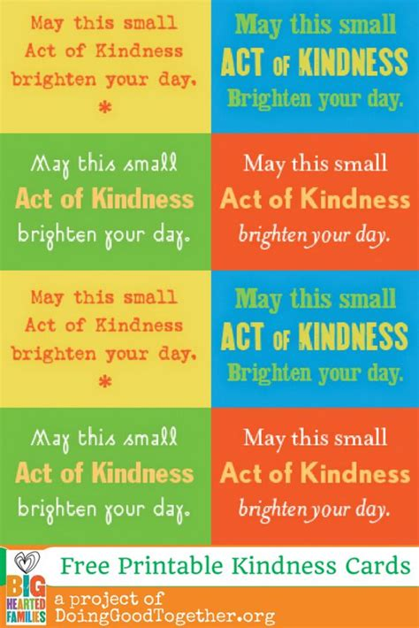kindness cards template random acts acts of kindness and kindness ideas on