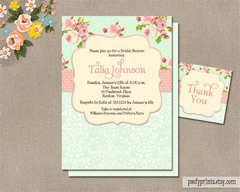 printable shabby chic wedding invitation templates