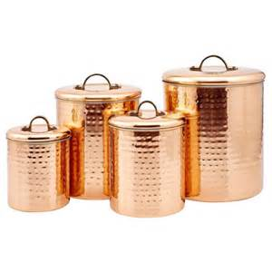copper canister set kitchen flour canister 4 shop