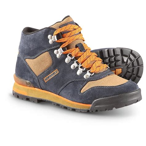 merrell mens boots s merrell 174 eagle origins hiking boots navy 283590