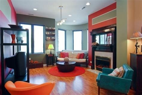 Teal And Orange Living Room by Teal And Orange Home Living Room