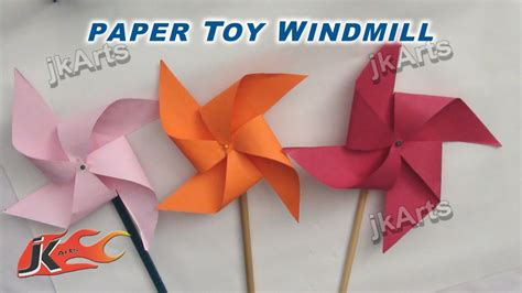 How To Make Paper Arts And Crafts - diy how to make paper pinwheel easy craft for