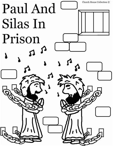 free coloring page paul in prison paul and silas in jail free coloring page coloring home