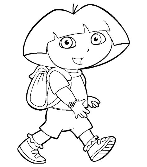 free coloring pictures dora explorer free dora and friends coloring pages