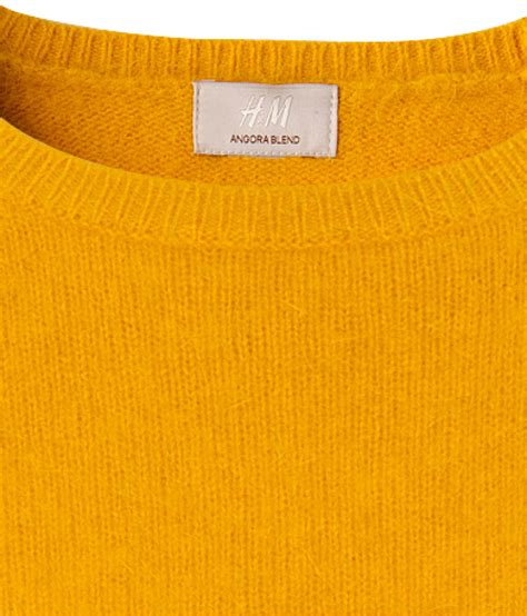 Vc Jaket Qing Mustard Pakaian Jaket Sweater h m knitted jumper in yellow lyst