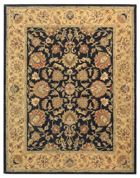Black And Yellow Area Rugs by Heritage Black Yellow Area Rug Hg343e Traditional Area