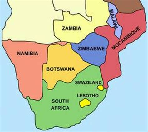 southern africa map list of southern countries how africa news
