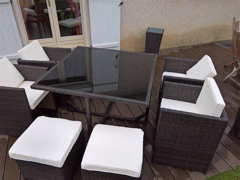 table de jardin resine tressee 8 places salon de jardin r 233 sine tress 233 e 4 224 8 places vasto