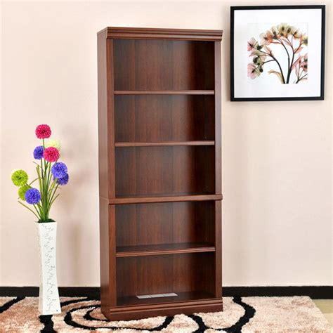 hton bay brown wood open bookcase thd130419 1a of