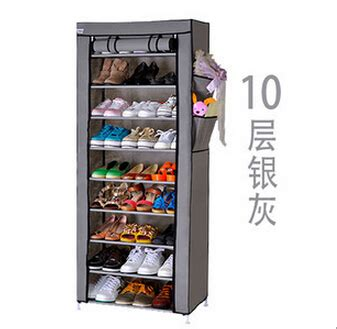 Bahan Rak Sepatu 10 Susun dusk cover rak sepatu kain penutup 10 susun 9 layer lemari