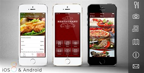 design restaurant app restaurant app template by mobidonia codecanyon