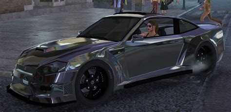 black paint w gloss finish come out on car as chrome saints row mods