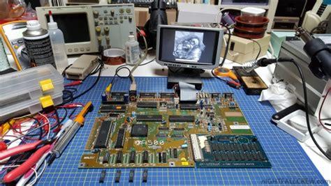 Mainboard Monitor Crt Normal commodore amiga 500 green screen of repair