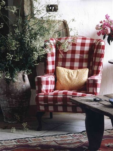 red check armchair swedish decorating ideas gingham chair from alamodeus blog