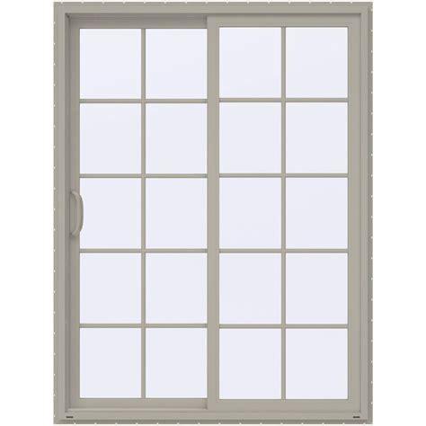 Composite Sliding Patio Doors Masterpiece 60 In X 80 In Composite Left Sliding Patio Door With Smooth Interior