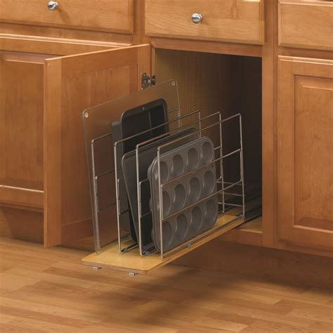 cabinet organizers pull out shop knape vogt 8 68 in w x 14 in h metal pull out