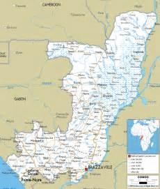 detailed clear large road map of congo ezilon maps