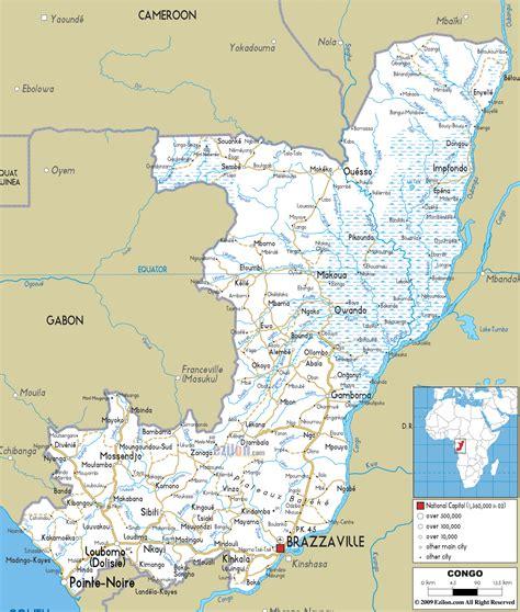 congo map road map of congo ezilon maps