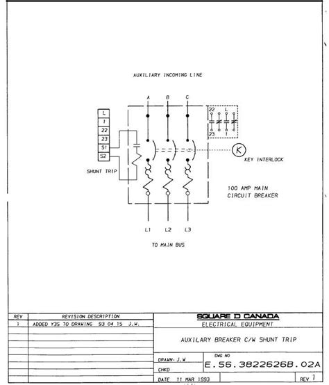square d shunt trip circuit breaker wiring diagram