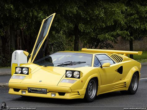 yellow lamborghini countach countach 25th anniversary 25th45 hr image at lambocars com