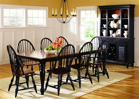 black cherry two tone finish casual dining table w options
