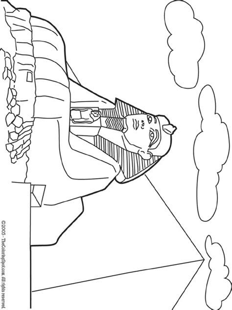 coloring pages of egypt great sphinx coloring page site has other printables for
