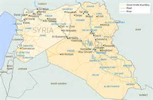 Map Of Syria And Iraq by The Brookings Institution Profiles The Islamic State 15