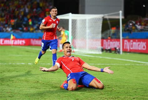 alexis sanchez goal for chile fifa world cup 2014 chile defeats australia 3 1