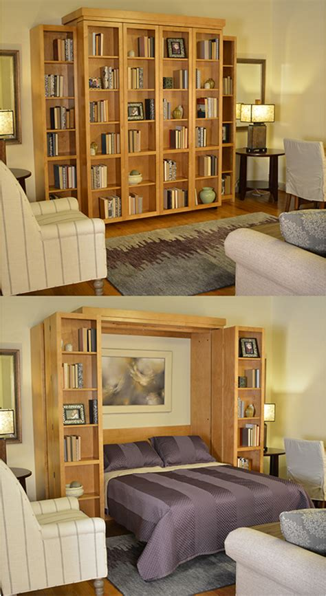 bifold bookcase murphy bed with a bi fold bookcase wall bed you can take convertible