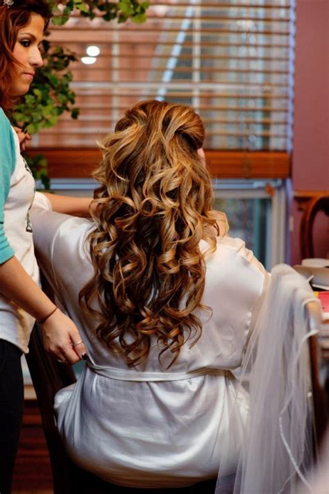 Wedding Hair How To Hold Curls In Dominican Republic | love hair down with curls but that some is swept up off