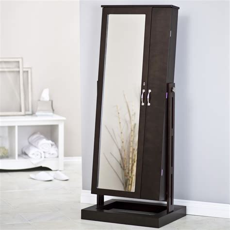 free standing jewelry armoire with mirror jewelry storage mirror australia style guru fashion