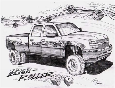 lifted jeep drawing lifted chevy drawings