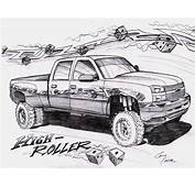 How To Draw Lifted Trucks