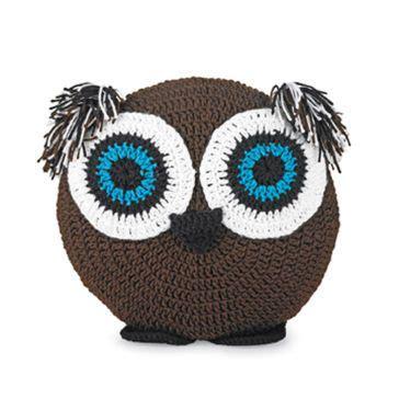 free pattern owl cushion crocheted owl pillow crochet dolls pinterest
