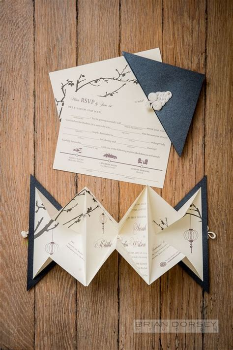 Origami Invitation - 45 origami wedding ideas origami weddings