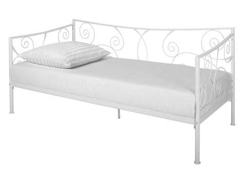 lit banquette 90x190 cm ellipse 2 coloris blanc vente de