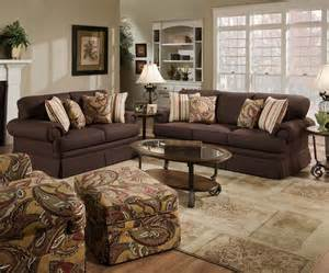 Throw Pillows For Brown Sofa Simmons Powell Sofa Pc Chair Chenille Seat 4 Throw Pillows New Chocolate
