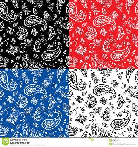 bandana pattern drawing bandana seamless pattern stock vector image of clip