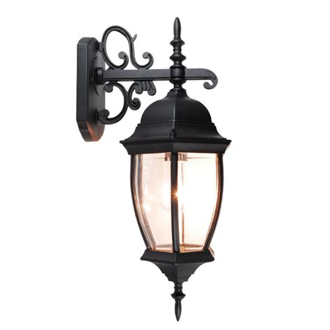 Light Fixtures Exterior Outdoor Exterior Lantern Wall Light Lighting Fixture Black Yard Garden Sconce Us Ebay