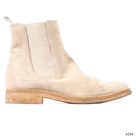 chelsea boots beige suede vintage ankle bally autumn